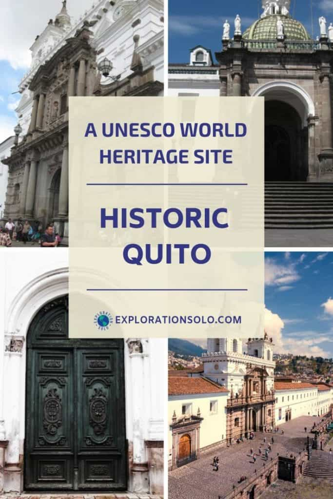 One Day in Old Town Quito as a solo traveler pin