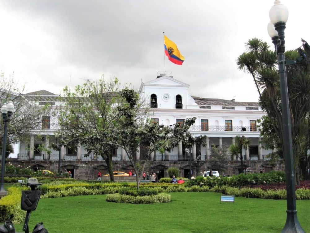 The Presidential Palace in Old Town Quito