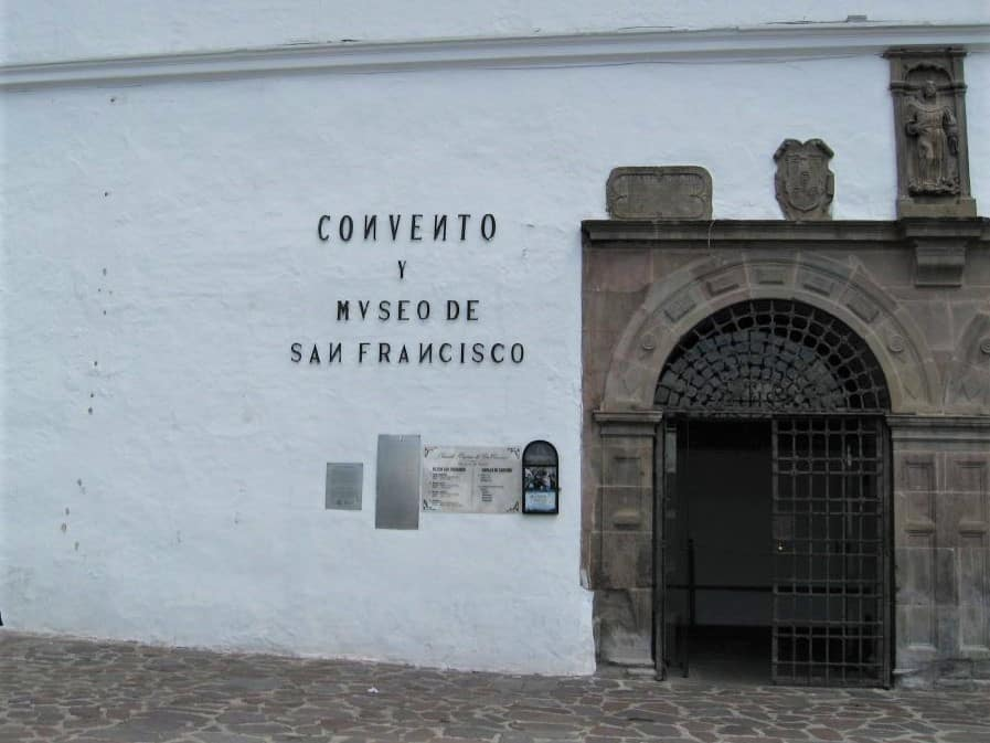 The San Francisco convent in Old Town Historic Quito