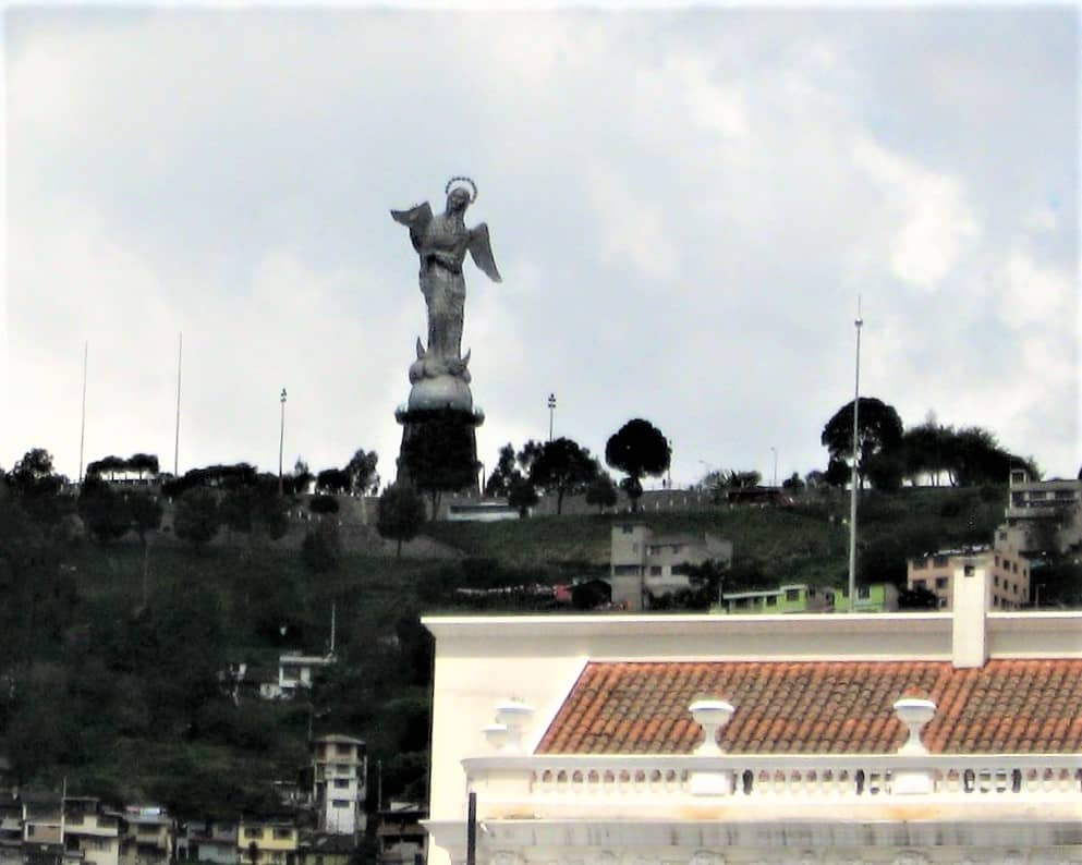 The Madonna statue at El Panecillo in Quito