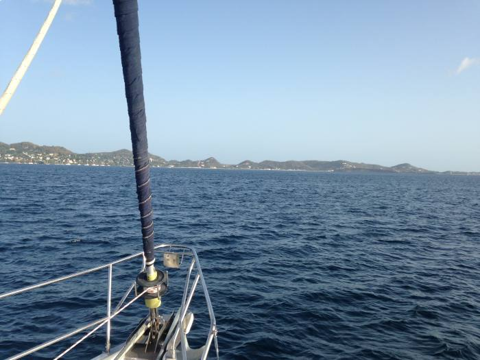 Learning to sail across the bright blue ocean from Grenada to Tobago Cays