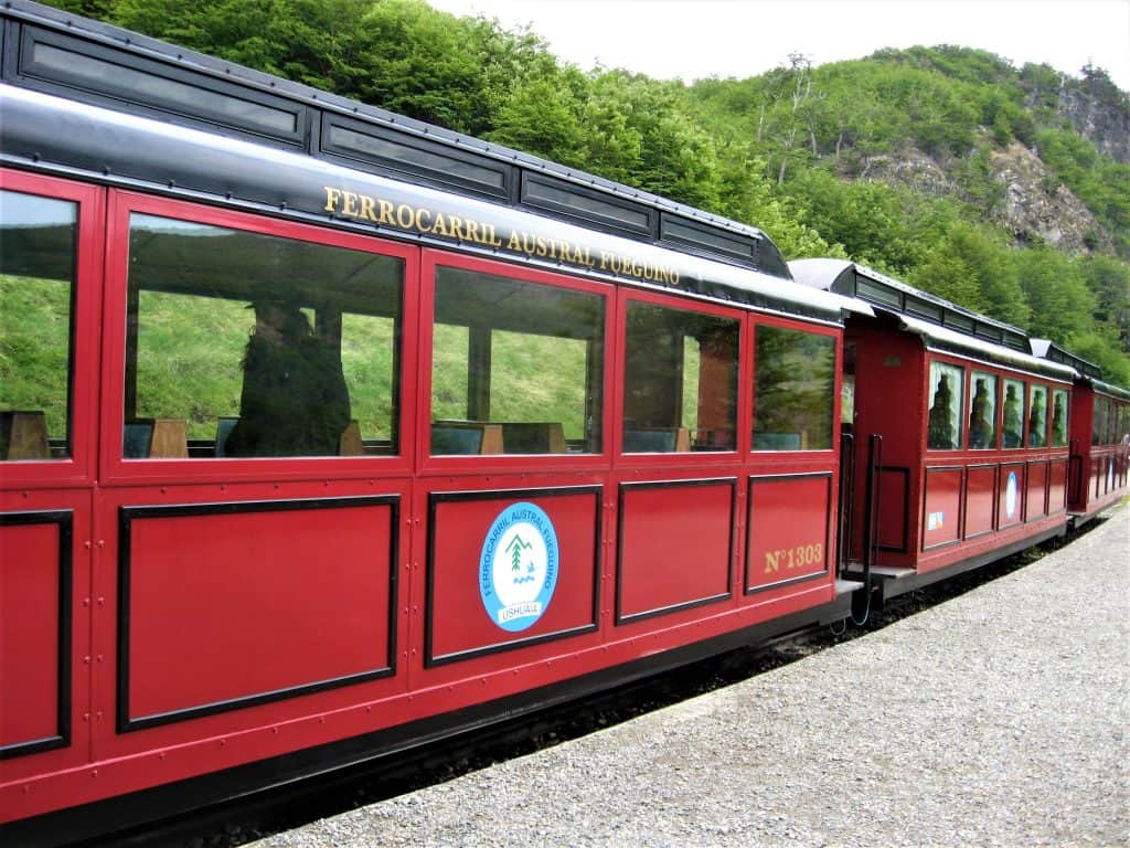 A closer look at the passenger cars for Ushuaia's Train at the End of the World