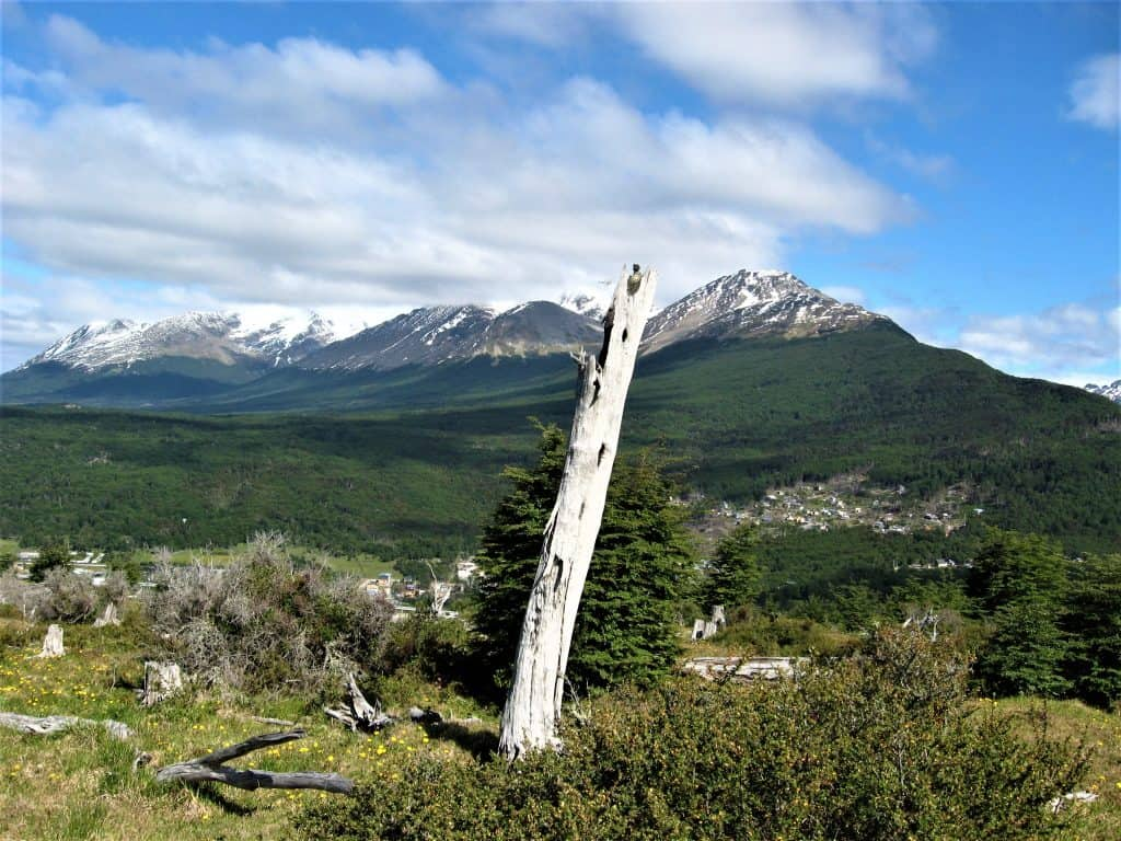 The views while hiking around the trails of the Arakur hotel in Ushuaia