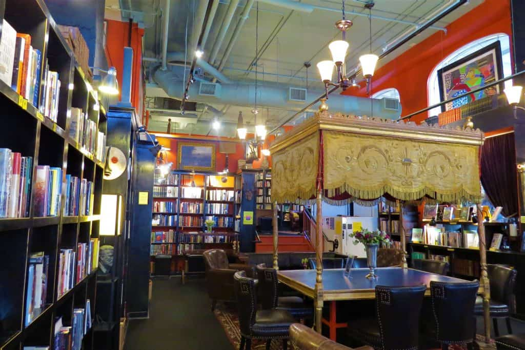 Asheville's Battery Park Book Exchange is a book store and champagne bar in one