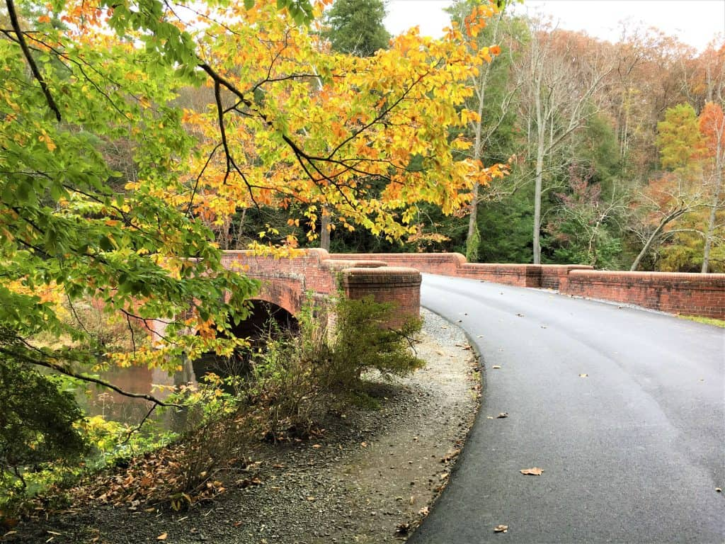 The brick bridge on the grounds of the Biltmore Estate in Asheville