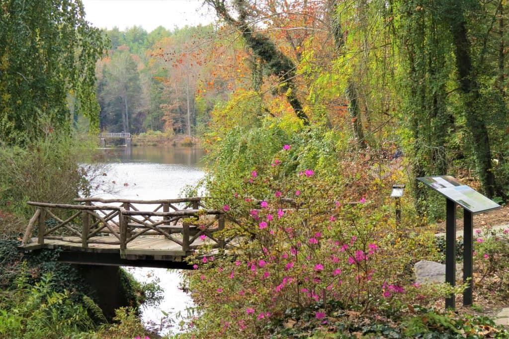 The bass pond is a nice place to stop while hiking at the Biltmore Estate in Asheville