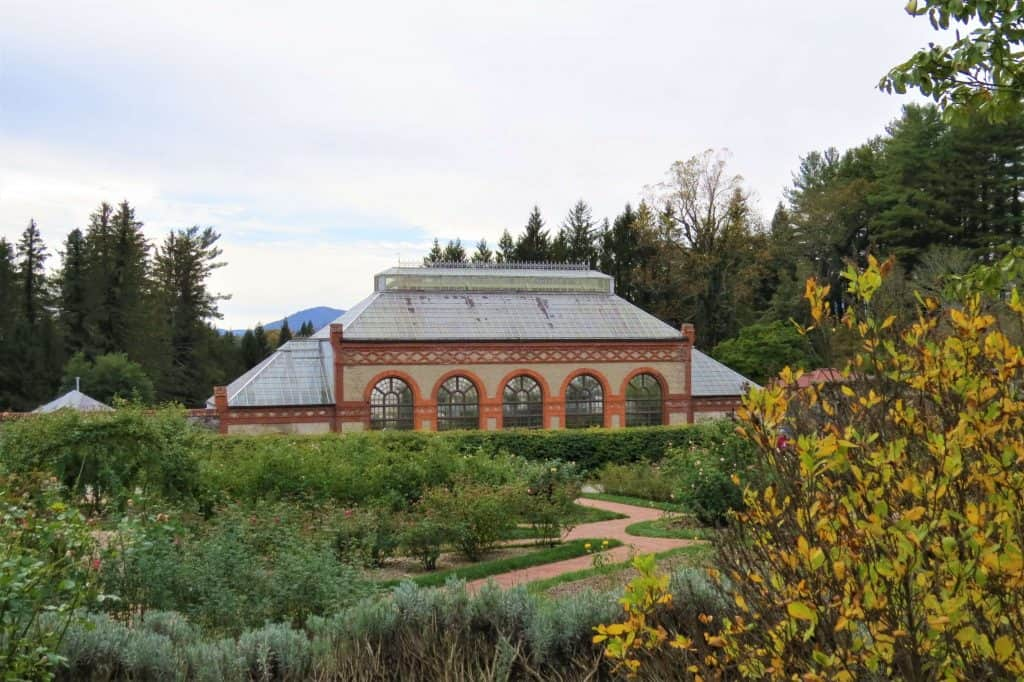 The Conservatory and gardens at the Biltmore Estate
