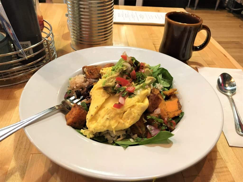 The breakfast bowl at Early Girl Eatery is a must try in Asheville