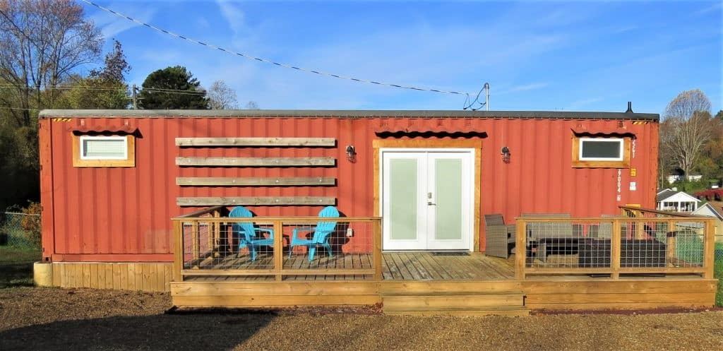 Rent a renovated storage container through Airbnb for a fun stay