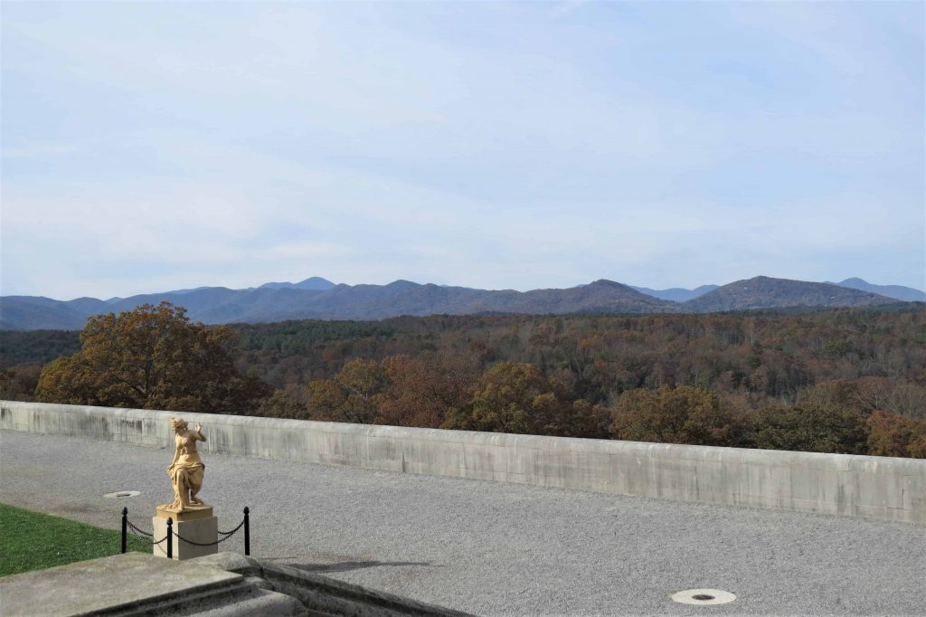 The side terrace at the Biltmore Estate
