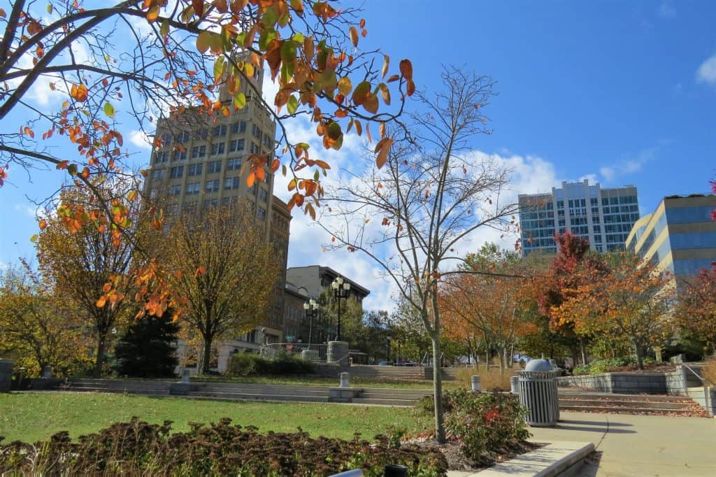 Asheville's downtown Pack Square sports diverse architecture to create an eclectic mix