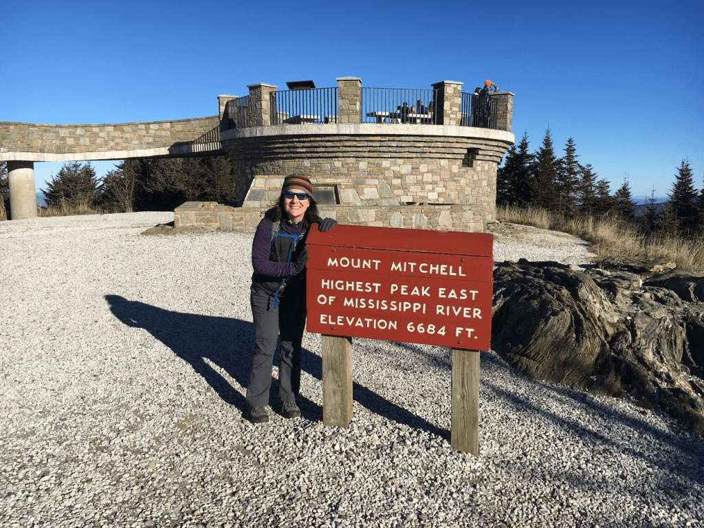 Mount Mitchell peak at 6684 feet of elevation