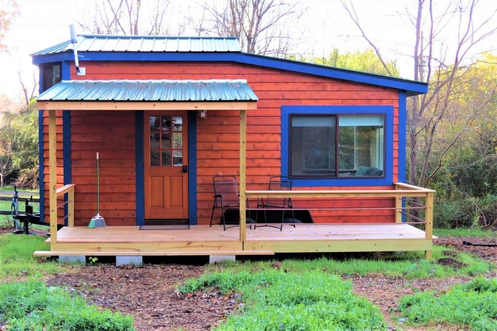 Stay in a tiny home rented through Airbnb
