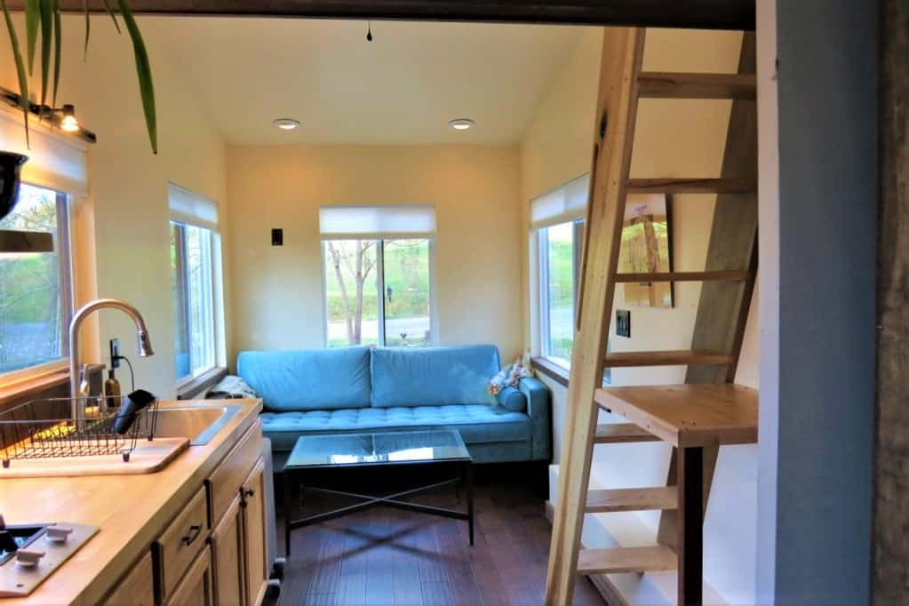 Rent a tiny home with lots of space and a working kitchen