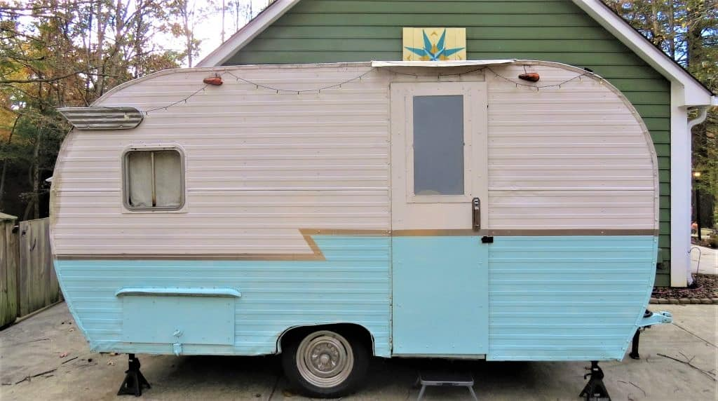 Lucy the vintage RV was one of the Airbnbs I tried out in Asheville