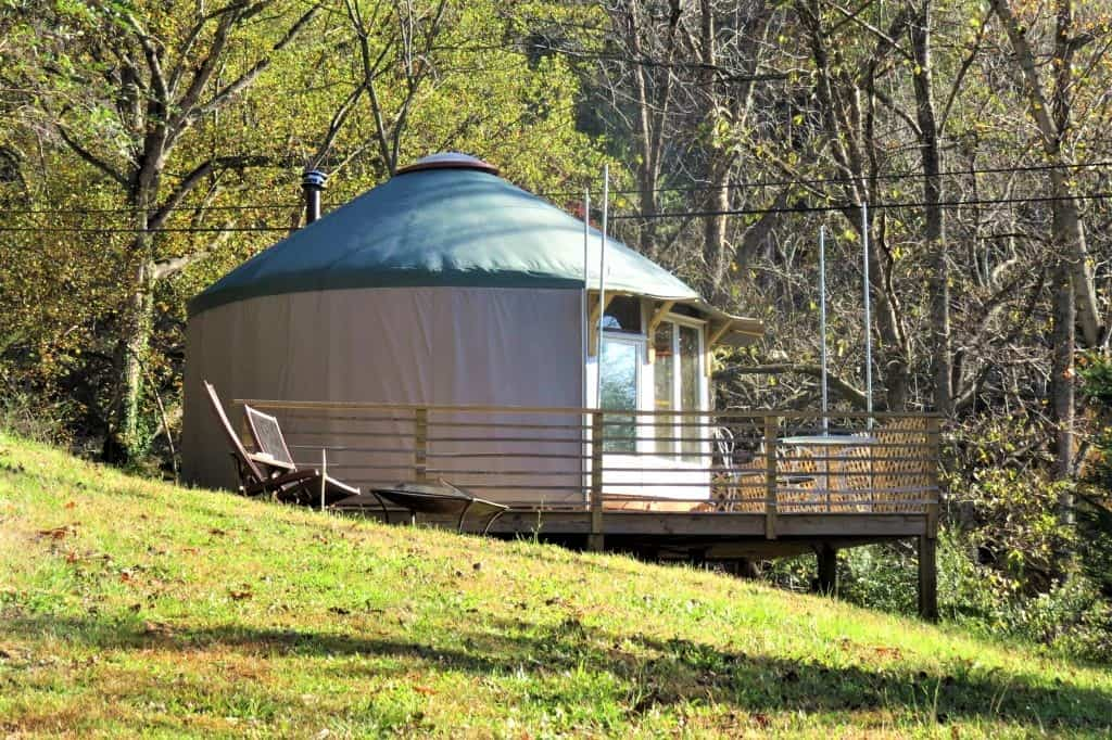 Renting a Yurt in Asheville through Airbnb