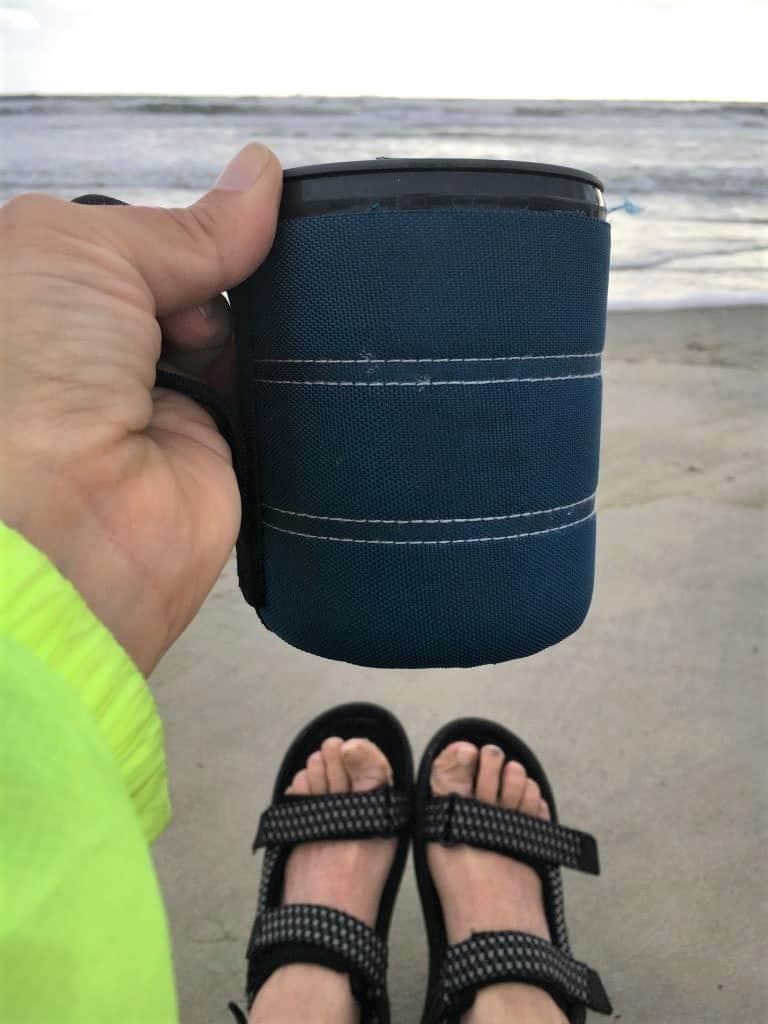 Morning coffee on the beach
