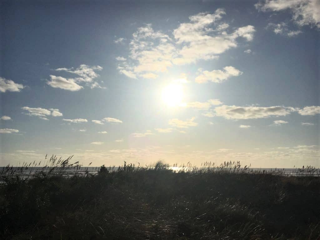 Morning sunrise on the beach