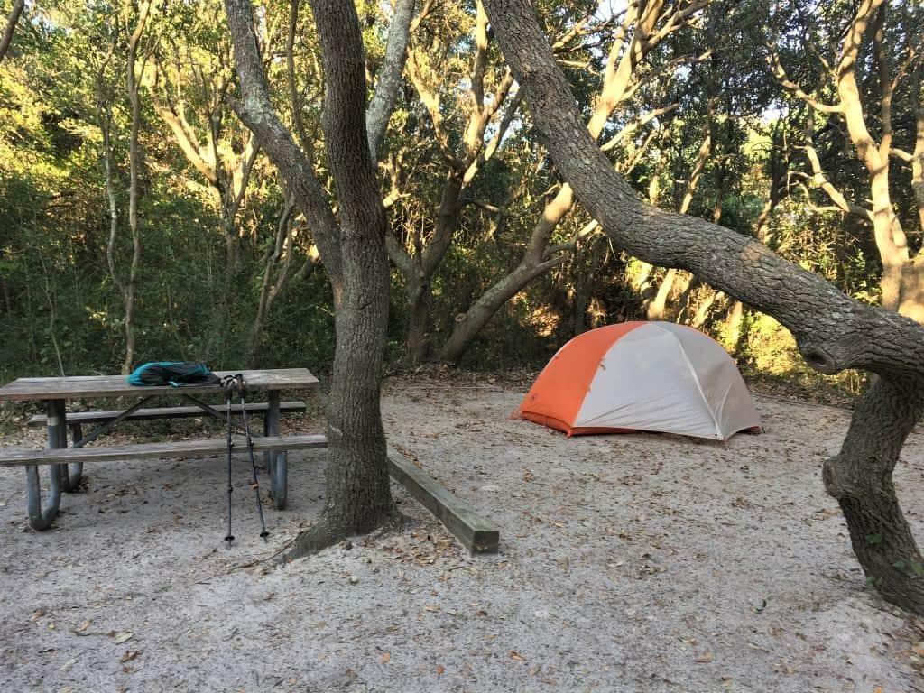 My campsite at False Cape