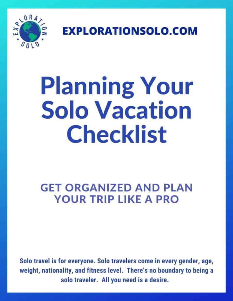 FREE Planning Your Solo Vacation Checklist