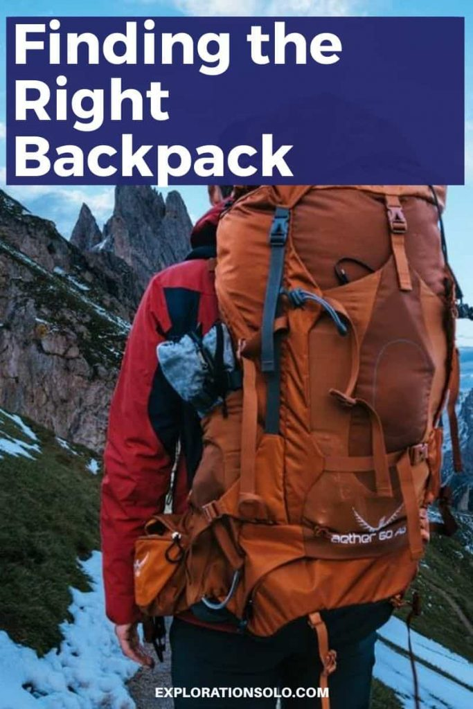 Pin it! Finding the Right Backpack